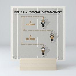 Moto Social Distancing Mini Art Print