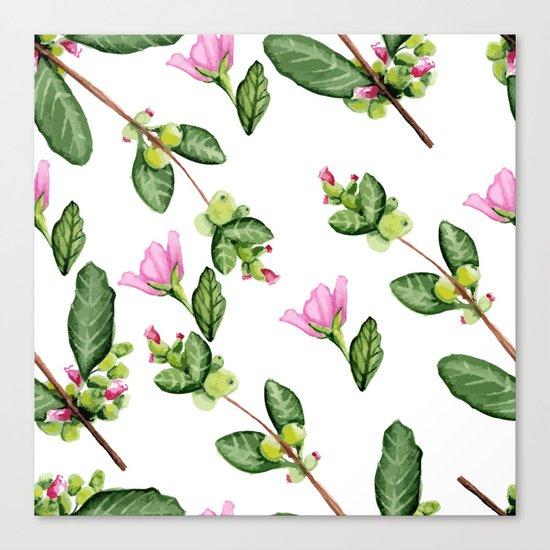 Floral pattern. Watercolor. Canvas Print