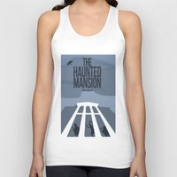 haunted mansion Tank Tops featuring The Dark Rides: The Haunted Mansion #1 by The Disneyland Minimalist