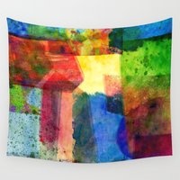 water color Wall Tapestries featuring water color by Pao Designs