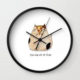 You had me at pizza! Wall Clock