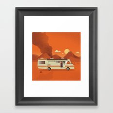 Breaking Van Framed Art Print
