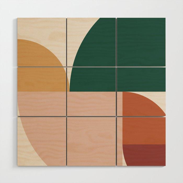 Abstract Geometric 11 Wood Wall Art