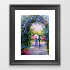 A walk in the lush garden Framed Art Print
