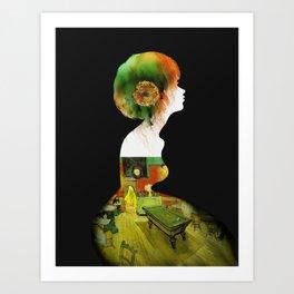 Van Girl Art Print