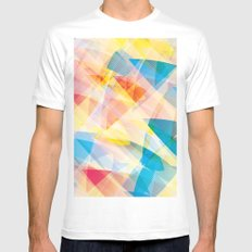 Abstract Mens Fitted Tee White MEDIUM