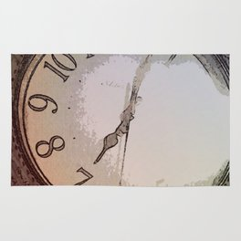 The Wall Clock Rug