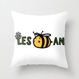 Lesbian Bumble Bee Throw Pillow