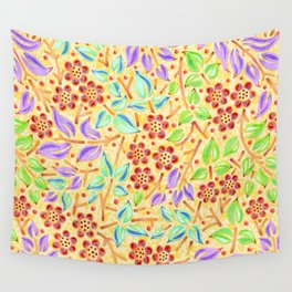 Sunshine Filigree Floral Wall Tapestry