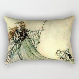 """""""Queen of the Fairies"""" by Arthur Rackham Midsummer's Night Rectangular Pillow"""