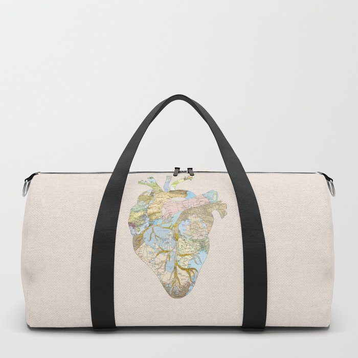 A Traveler's Heart Duffle Bag