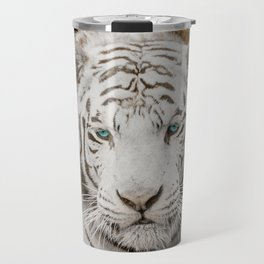 WHITE TIGER GAZE Travel Mug