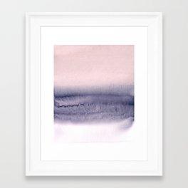 minimalist atmospheric landscape 2 Framed Art Print
