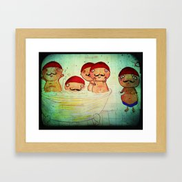 No Room for Pierre Framed Art Print
