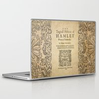 hamlet Laptop & iPad Skins featuring Shakespeare, Hamlet 1603 by BiblioTee