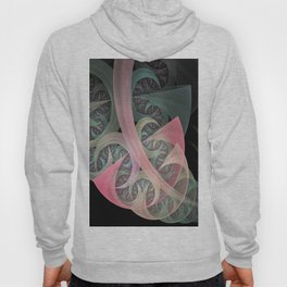 Dream Beam, fractal abstract in dreamy colors Hoody