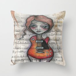 """Minuet""  Throw Pillow"