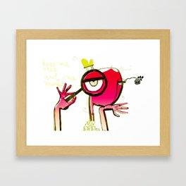 kiss me once Framed Art Print