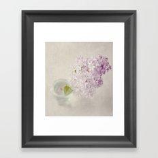 Textured Lilac  Framed Art Print