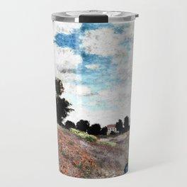 Claude Monet's Poppy Fields Travel Mug