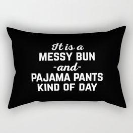 Messy Bun Day Funny Quote Rectangular Pillow