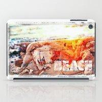 chicago bulls iPad Cases featuring Beach Bulls by Zhineh Cobra
