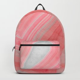 Coral Pink Agate Backpack