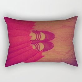 The Girl in the Red Dress Rectangular Pillow