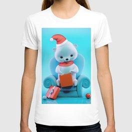 Teddy Bear With Christmas Box T-shirt