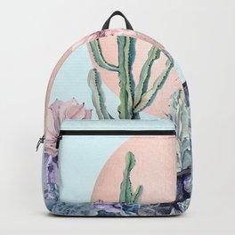 Desert Sun Cactus + Succulents Bronze Turquoise Backpack