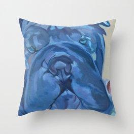 Khloe the Sharpei Portrait Throw Pillow