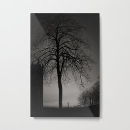 silhouette at Durham Cathedral Metal Print
