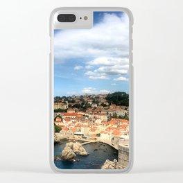 The Old City of Dobrovnik, Croatia Clear iPhone Case