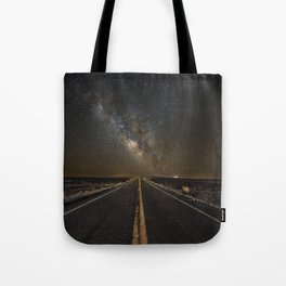 Go Beyond - Road Leads Into Milky Way Galaxy Tote Bag