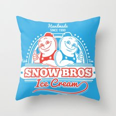 Snow Bros Ice Cream Throw Pillow