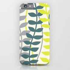 seagrass pattern - teal and lime iPhone 6s Slim Case