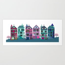 San Francisco Houses - Painted Ladies Art Print