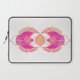 Egyptian Scarab – Pink Ombré Laptop Sleeve