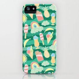 Super happy summer beach party pattern iPhone Case
