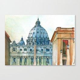 Scorcio di S. Pietro Canvas Print