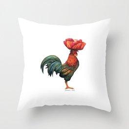 Poppycock 1 Pun Throw Pillow