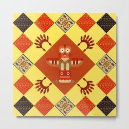 Indian patchwork41 Metal Print