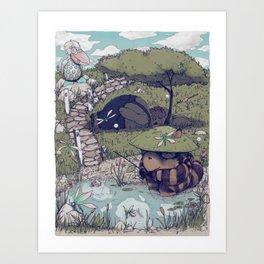 Spirited among the Dragonflies Art Print