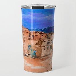 Taos Pueblo Village Travel Mug