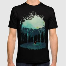 Deep in the forest MEDIUM Mens Fitted Tee Black