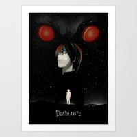 death note Art Prints featuring Death Note by Sedki Alimam