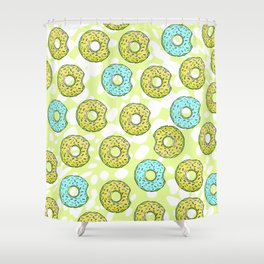 DONUTS AND DOTS DELICOUS DELIGHT Shower Curtain