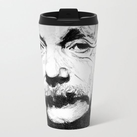 Albert Einstein Metal Travel Mug