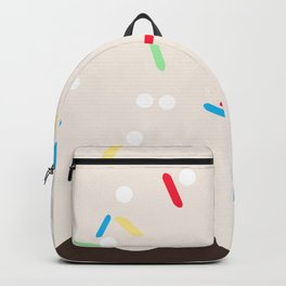 Hot chocolate with whipped cream and sprinkles Backpack