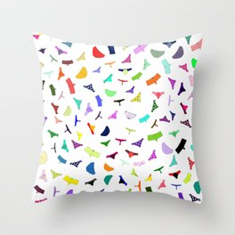 Colorful panties print Throw Pillow